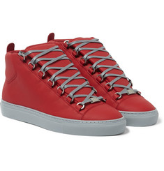 Balenciaga Leather High-Top Sneakers