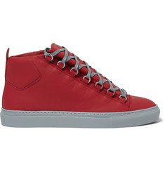 Balenciaga Arena Leather High-Top Sneakers