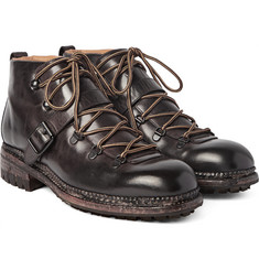 O'Keeffe - Alvis Washed-Leather Hiking Boots