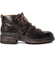 O'Keeffe Alvis Washed-Leather Hiking Boots
