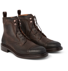O'Keeffe Felix Distressed Leather Brogue Boots