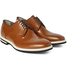 Armando Cabral - Grosgrain-Trimmed Leather Derby Shoes