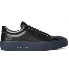 Armando Cabral Two-Tone Perforated Leather Sneakers