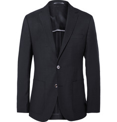 Hugo Boss Navy Slim-Fit Woven Wool Blazer