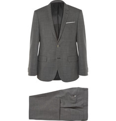 Hugo Boss - Grey Slim-Fit Virgin Wool Suit