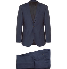 Hugo Boss - Navy Slim-Fit Wool and Silk-Blend Three-Piece Suit