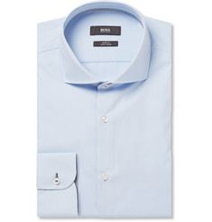 Hugo Boss - Light-Blue Jerry Slim-Fit Cotton Shirt