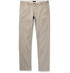 Hugo Boss Slim-Fit Overdyed Stretch-Cotton Gabardine Trousers