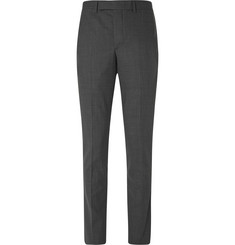 Officine Generale Grey Slim-Fit Wool-Flannel Travel Suit Trousers