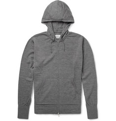 Officine Generale Zip-Up Merino Wool Hoodie