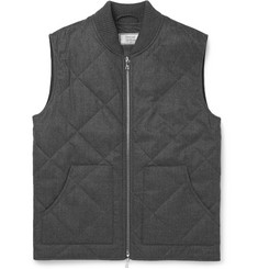 Officine Generale - Crosby Wool-Flannel Padded Gilet