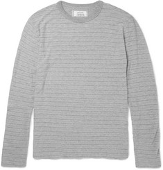Officine Generale - Striped Marled Cotton-Jersey T-Shirt