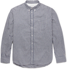 Officine Generale Gingham Slub-Cotton Shirt