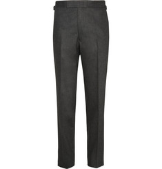 Kingsman Charcoal Wool-Flannel Trousers