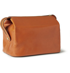 Kingsman + Swaine Adeney Brigg Leather Wash Bag