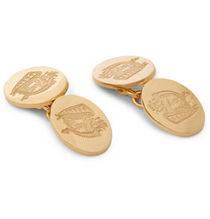Kingsman Deakin & Francis Rose Gold-Plated Crest Cufflinks