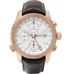 Kingsman + Bremont ALT1-WT/WH World Timer Leather and Rose Gold Automatic Chronograph Watch