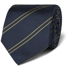 Kingsman + Drake's Striped Silk Tie