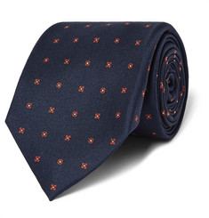 Kingsman + Drake's Patterned Silk Tie