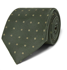 Kingsman - + Drake's Patterned Silk Tie
