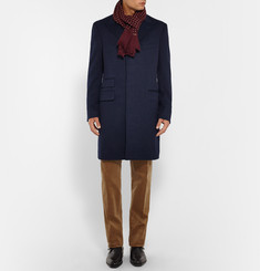 Kingsman + Drake's Polka-Dot Wool and Silk-Blend Scarf
