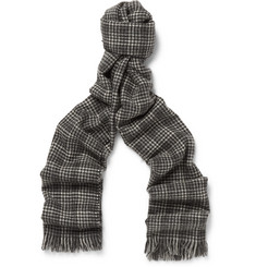 Kingsman + Drake's Prince of Wales Checked Cashmere Scarf