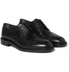 Hugo Boss - Kender Polished-Leather Wingtip Brogues
