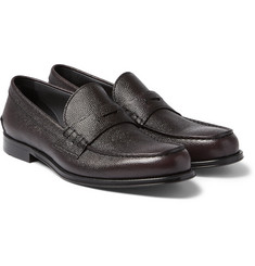 Hugo Boss - Collec Pebble-Grain Leather Penny Loafers