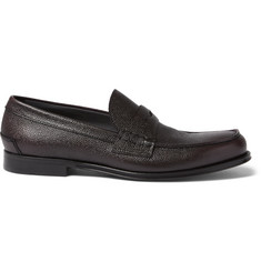Hugo Boss Collec Pebble-Grain Leather Penny Loafers