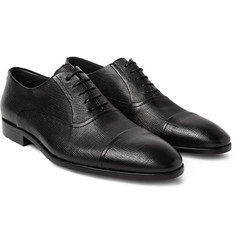 Hugo Boss - Eveprim Cross-Grain Leather Oxford Shoes
