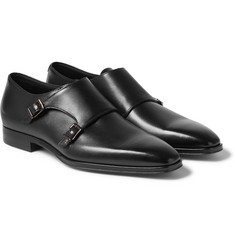 Hugo Boss - T-Exmok Polished-Leather Monk-Strap Shoes
