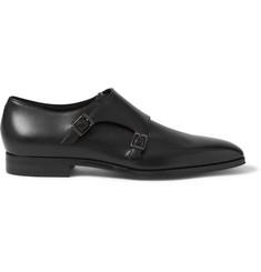 Hugo Boss T-Exmok Polished-Leather Monk-Strap Shoes