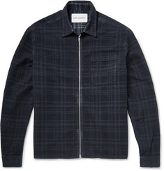 Our Legacy Slim-Fit Zip-Up Checked Cotton Overshirt