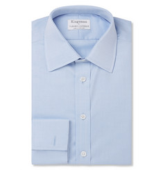 Kingsman + Turnbull & Asser Blue Double-Cuff Cotton-Twill Shirt