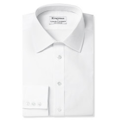 Kingsman + Turnbull & Asser White Royal Oxford Cotton Shirt
