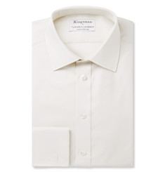 Kingsman - + Turnbull & Asser Cream Double-Cuff Royal Oxford Cotton Shirt