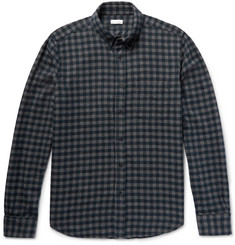 Steven Alan Collegiate Slim-Fit Gingham Cotton-Flannel Shirt