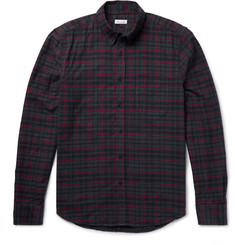 Steven Alan - Collegiate Slim-Fit Checked Cotton-Flannel Shirt
