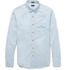 J.Crew Slim-Fit Herringbone Brushed-Cotton Shirt