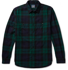 J.Crew Black Watch Checked Cotton-Flannel Shirt