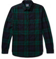 J.Crew - Black Watch Checked Cotton-Flannel Shirt