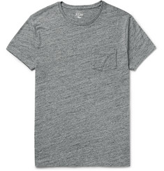 J.Crew Flagstone Mélange Knitted Cotton T-Shirt
