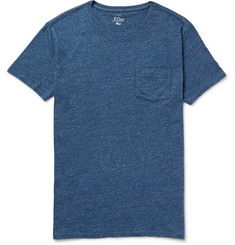 J.Crew - Flagstone Mélange Knitted Cotton T-Shirt