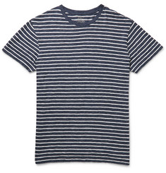 J.Crew Field Knit Striped Cotton-Jaspé T-Shirt
