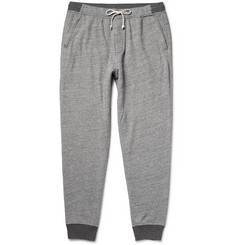 J.Crew Tapered Fleece-Back Cotton-Blend Jersey Sweatpants