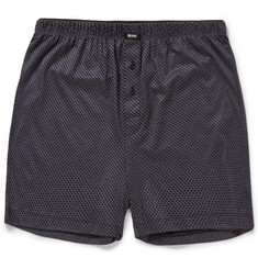 Hugo Boss Printed Modal and Cotton-Blend Pyjama Shorts
