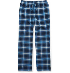 Hugo Boss - Checked Cotton-Flannel Lounge Trousers