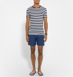 Hugo Boss - Seabream Mid-Length Jacquard-Striped Swim Shorts