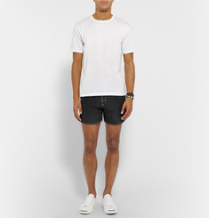 Hugo Boss - Lobster Contrast-Stitched Mid-Length Swim Shorts