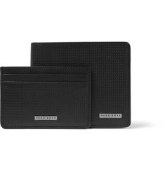 Hugo Boss Textured-Leather Billfold Wallet and Cardholder Gift Set